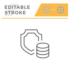 insurance line icon vector image