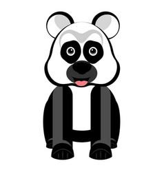 isolated cute panda vector image