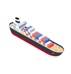 isometric ship container vector image