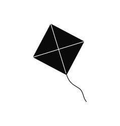 kite icon on white background vector image
