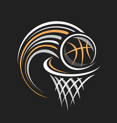 Logo for basketball vector