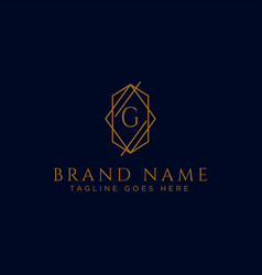 Luxury logotype premium letter g logo with golden vector