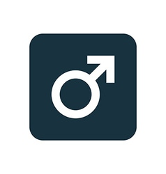 male symbol icon Rounded squares button vector image