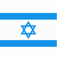 national flag of israel with star of david in blue vector image