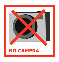 no camera takeing photo is not allowed ban vector image