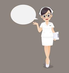 nurse speech vector image