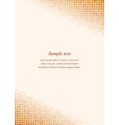 Orange page corner design template vector