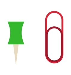 Paper clip office supply vector image