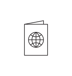 Passport document icon vector