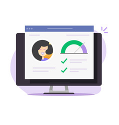 personal skills data info credit score history vector image