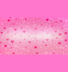 pink valentine background with light glitter vector image