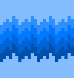 pixel blue knit pattern background vector image