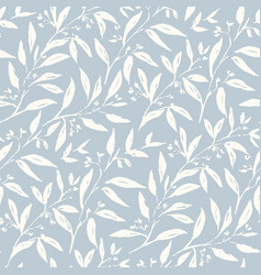Plants hand drawn color seamless pattern vector
