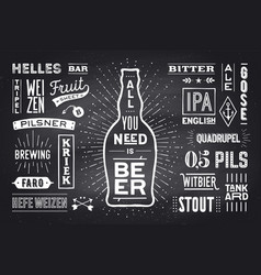 Poster all you need is beer vector