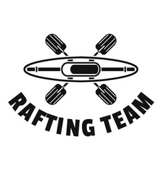 Rafting team logo simple style vector