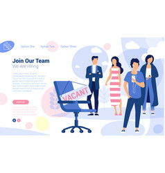 recruiting concept for web page vector image