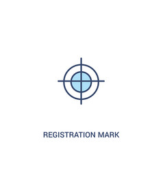 Registration mark concept 2 colored icon simple vector