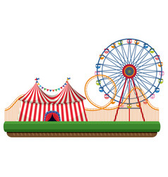 ride in the fun park vector image
