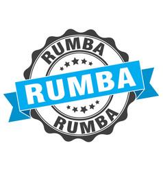 Rumba stamp sign seal vector