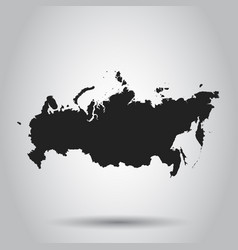 Russia map icon flat russia sign symbol with vector