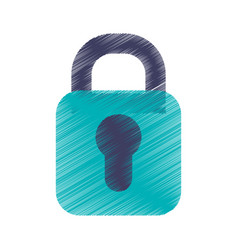 safe padlock isolated icon vector image