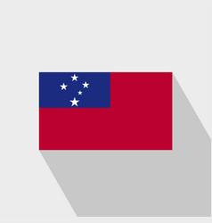 Samoa flag long shadow design vector