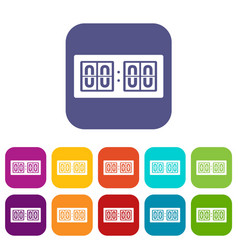 Scoreboard icons set vector