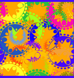 seamless texture of bright colorful gears and vector image