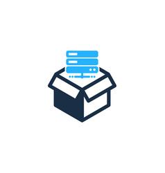 Server box logo icon design vector