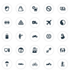 set of simple health icons vector image