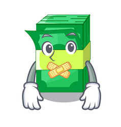 Silent set money in packing bundles cartoon vector