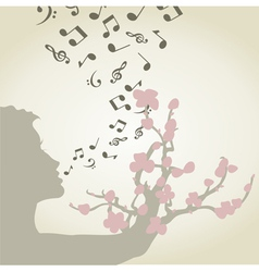 Singing woman vector image vector image