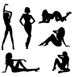 Six sexy girls vector