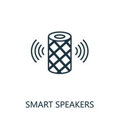Smart speakers outline icon thin line style from vector