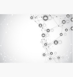 social media network and marketing concept vector image