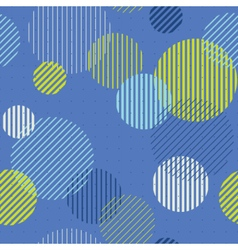 Striped circles seamless pattern vector image