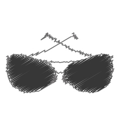 sunglasses modern style drawing isolated icon vector image