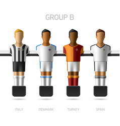 Table football foosball players Group B vector image