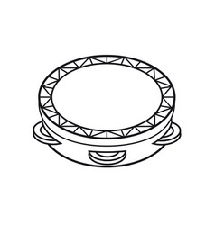 tambourine musical instrument for kid baby toy vector image