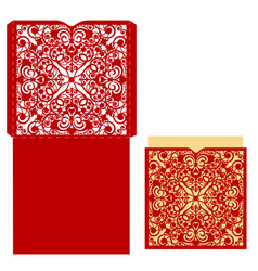 Template for greeting card vector