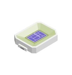 Tennis stadium isometric 3d icon vector