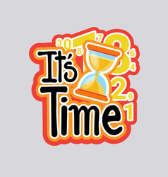 Time sticker social media network message badges vector
