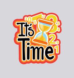 time sticker social media network message badges vector image