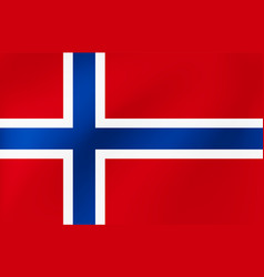wavy flag norway for site sports travel state vector image