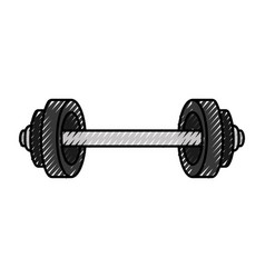 Weight lifting isolated icon vector