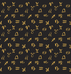 zodiac signs seamless pattern hand drawn vector image