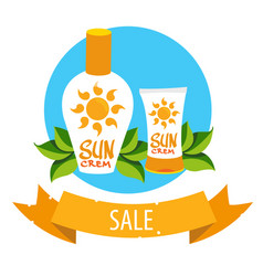 cosmetics for protecting the skin from the sun vector image vector image