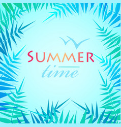 hello summer holiday poster traveling template vector image vector image