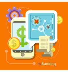 Internet Online Banking Concept vector image vector image