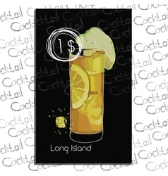 Long Island with price on chalk vector image vector image